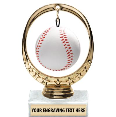 "6"" Baseball Floating Squishball Trophy"