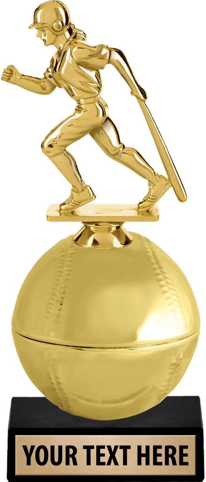 """8.5"""" GOLDEN BASEBALL RISER"""