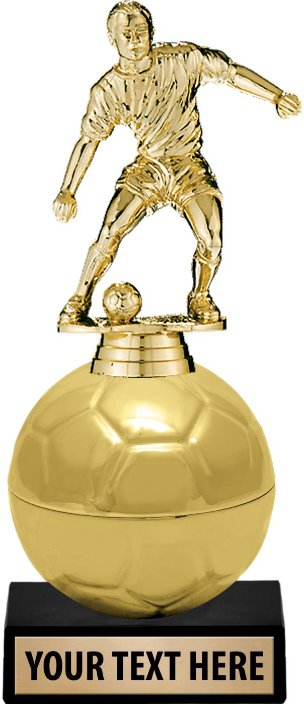 "8.5""GOLDEN SOCCER BALL RISER"