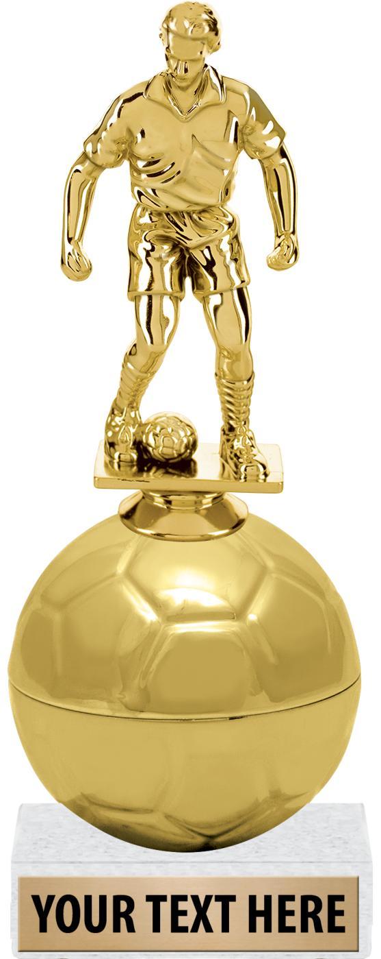 "8.5""GOLDEN SOCCER BALL RISER"