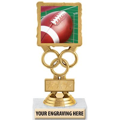 """6"""" Football Motion Trophy"""