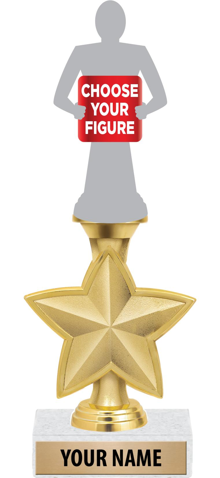 "9"" IDOL STAR TROPHY"