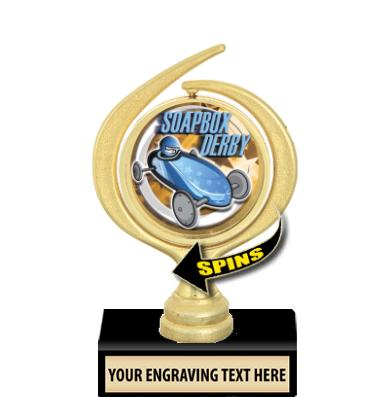 """5"""" LUSTROUS SPIN TROPHY"""
