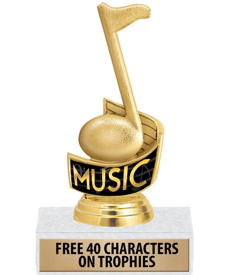 "5"" MUSIC NOTE INSERT TROPHY"