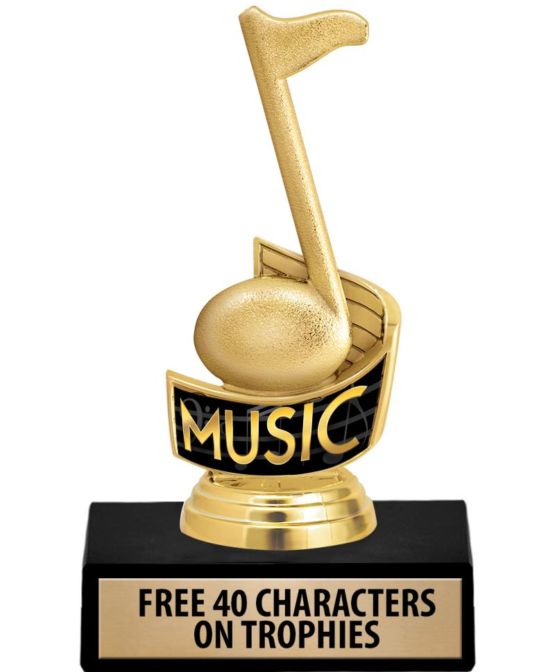 "5.75"" MUSIC NOTE INSERT TROPHY"