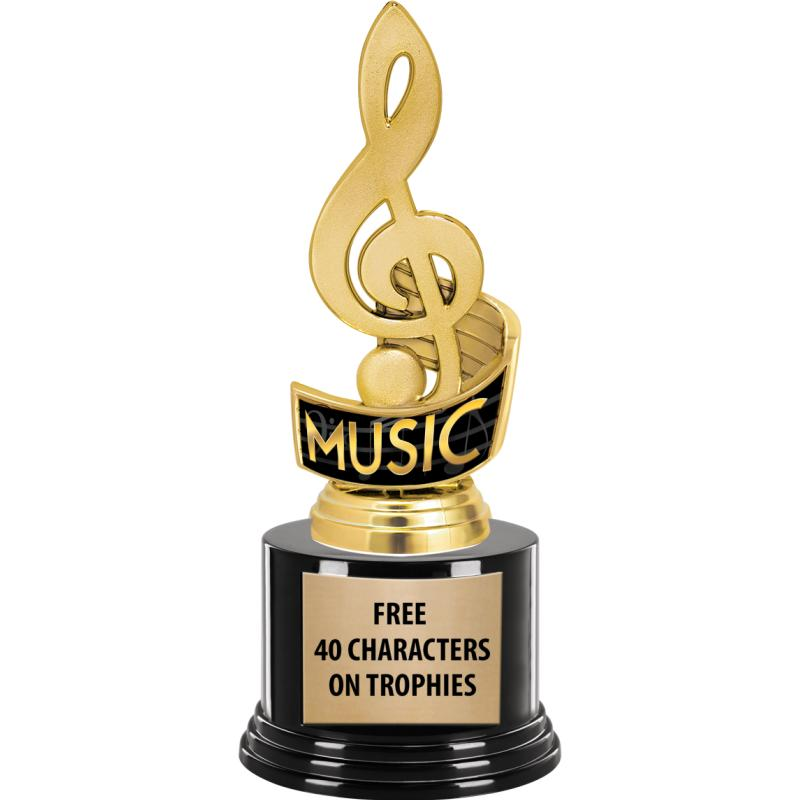 TREBLE CLEF MUSIC INS TROPHY