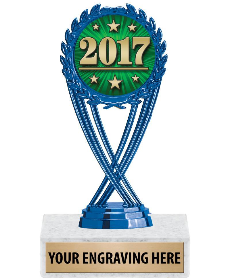 "6 1/4"" Blue Olympia Insert Trophy"