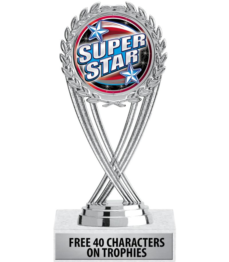 """6 1/4"""" Silver Olympia Insert Trophy"""