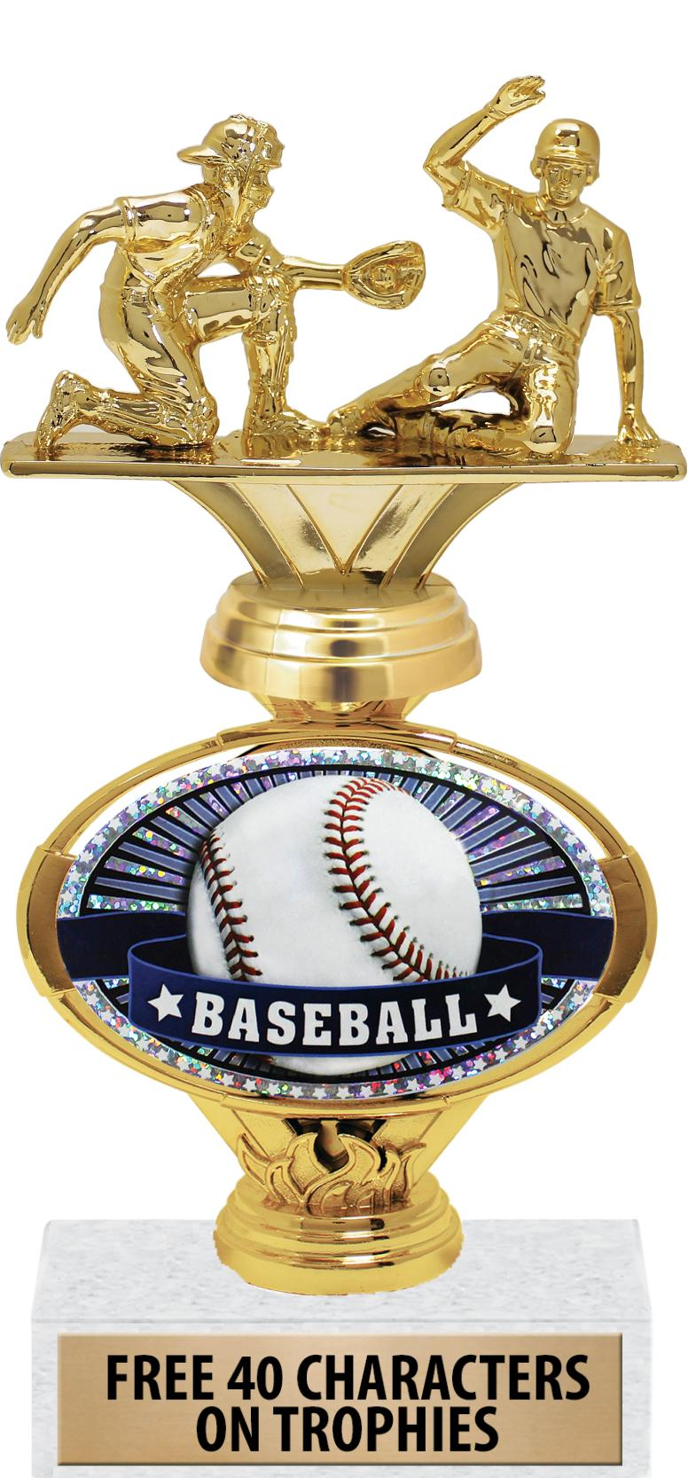 """10""""OVAL EMBOSSED INSERT TROPHY"""