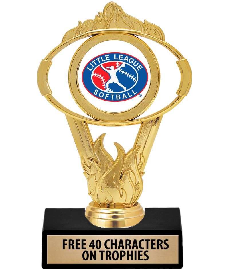 """6"""" GOLD OVAL INSERT TROPHY"""