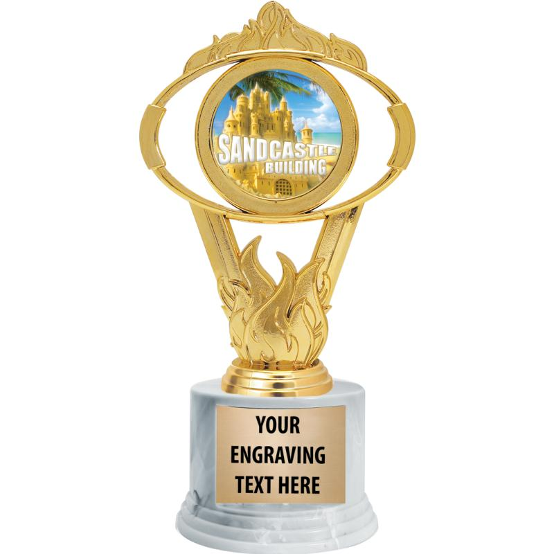 SMALL GOLD OVAL INSERT TROPHY