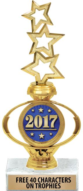 "10"" & 12"" Oval Flame Insert Riser Trophies"