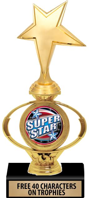 """10"""" & 12"""" Oval Flame Insert Riser Trophies"""