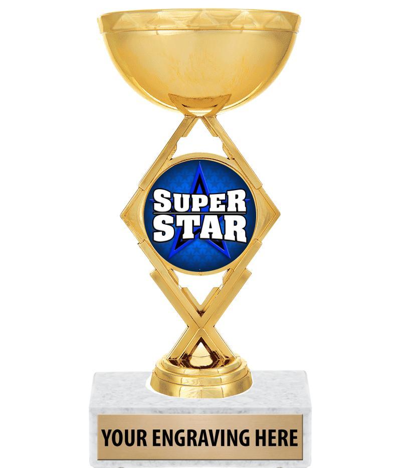 "7 1/4"" Royale Diamond Cup Trophy"