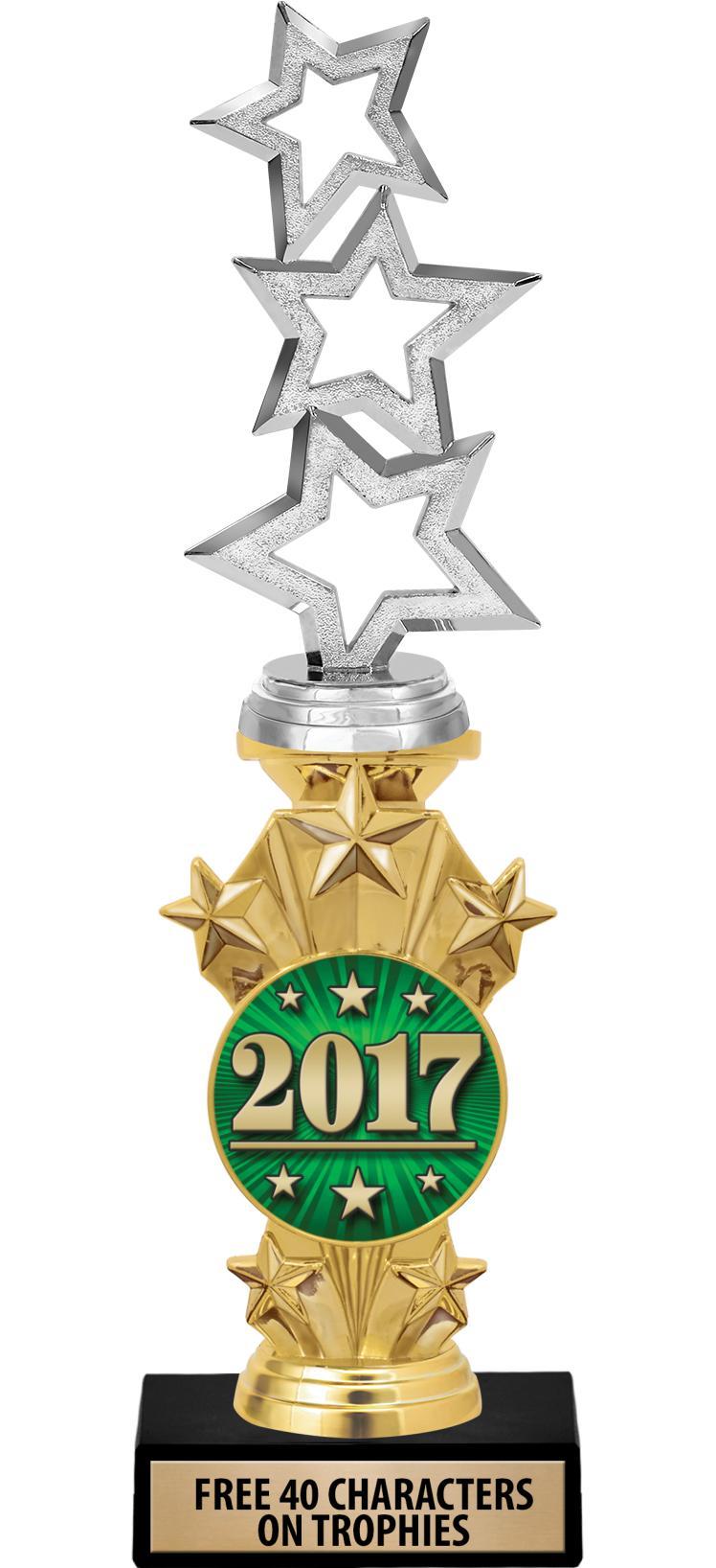 """12"""" Starburst Insert Trophy"""