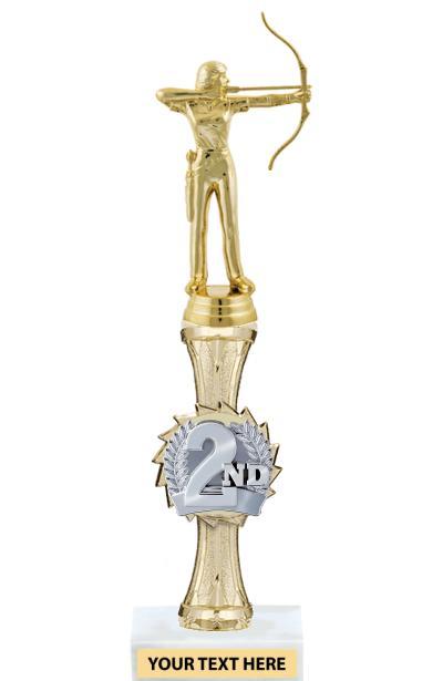 """12"""" Gold Sport Burst Riser Trophy"""