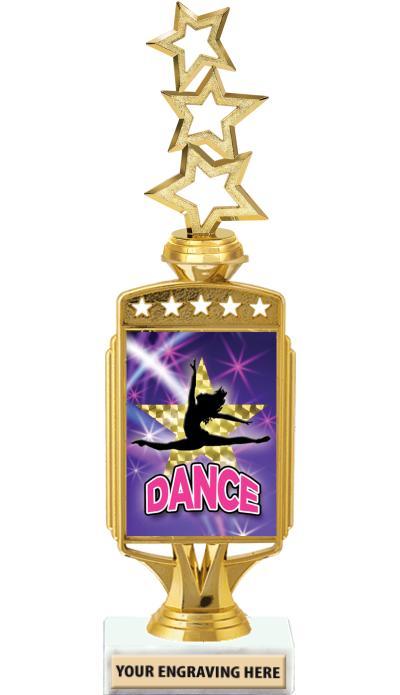 "12"" Starcardz Foil Riser Trophy"