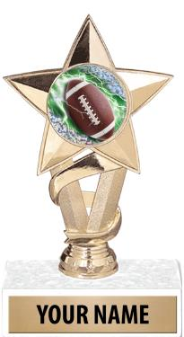 "7"" STAR INSERT TROPHY-GOLD"
