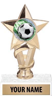 "7"" STAR INSERT TROPHY-GOLD"