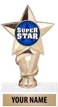 "7"" Gold, Silver & Clear Star Insert Trophies"
