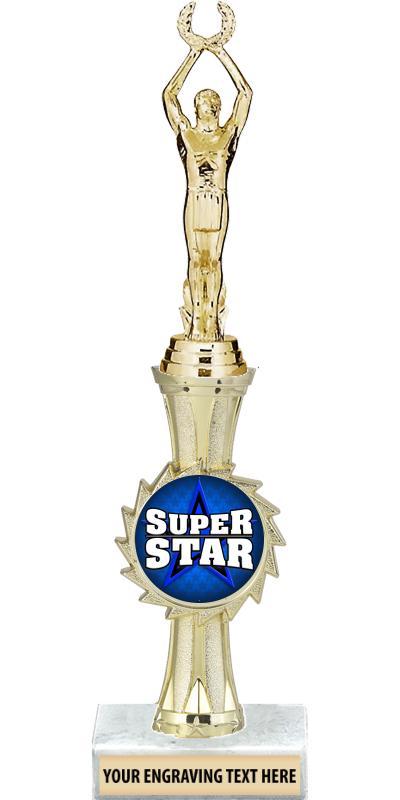 """12"""" Gold Sunburst Insert Riser Trophy"""