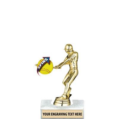 "6"" Baseball Male Spin-Zer Trophy"