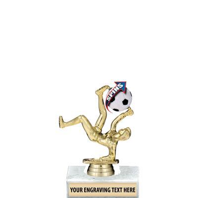 """6"""" Soccer Spin-Zer Trophy"""
