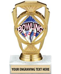 """5 1/4"""" Bowling Marquis Trophy"""