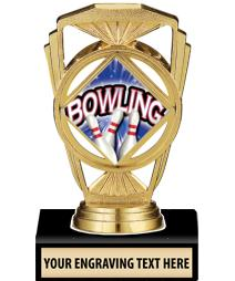 "5 1/4"" Bowling Marquis Trophy"