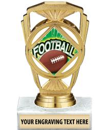 "5 1/4"" Football Marquis Trophy"