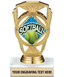 "5 1/4"" Baseball Marquis Trophy"