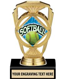 "5 1/4"" Softball Marquis Trophy"