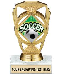 "5 1/4"" Soccer Marquis Trophy"