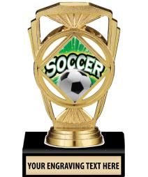 """5 1/4"""" Soccer Marquis Trophy"""