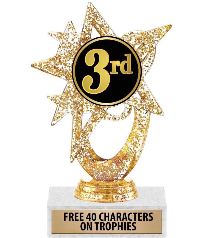 "6""ASTRAL GLITTER GOLD TROPHY"