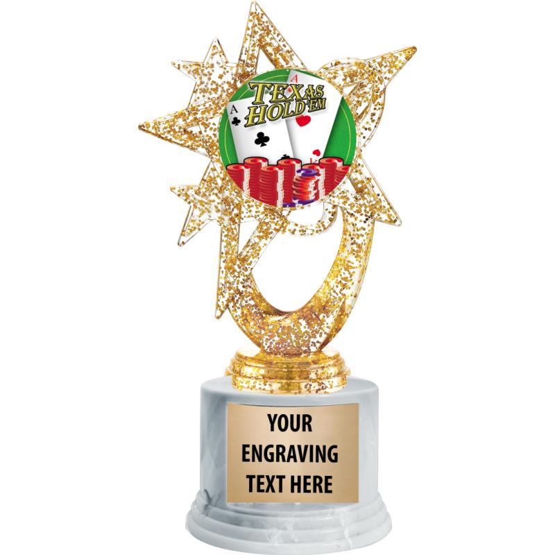 GOLD ASTRAL GLITTER TROPHY