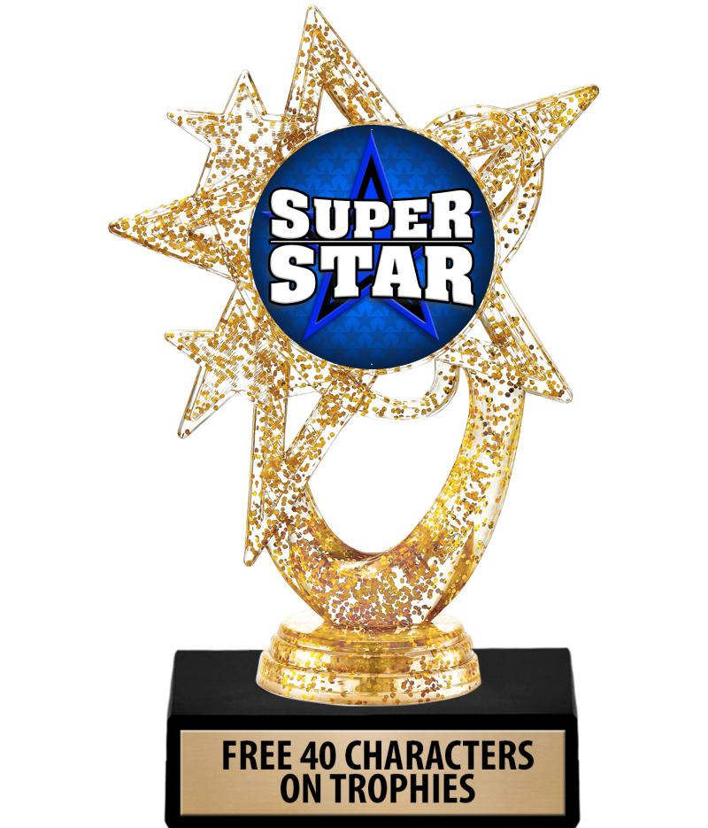 "6"" Glitter Astral Star Insert Trophies"