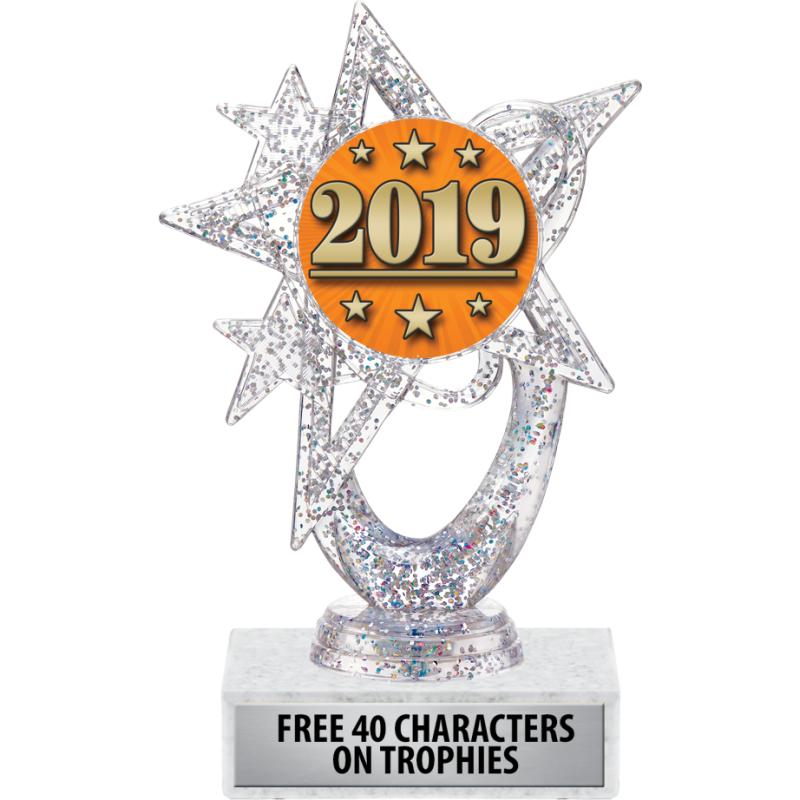 """6""""ASTRAL GLITTER SILVER TROPHY"""