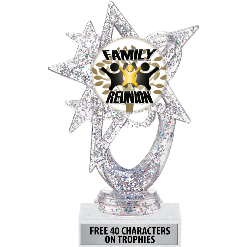 SILVER ASTRAL GLITTER TROPHY