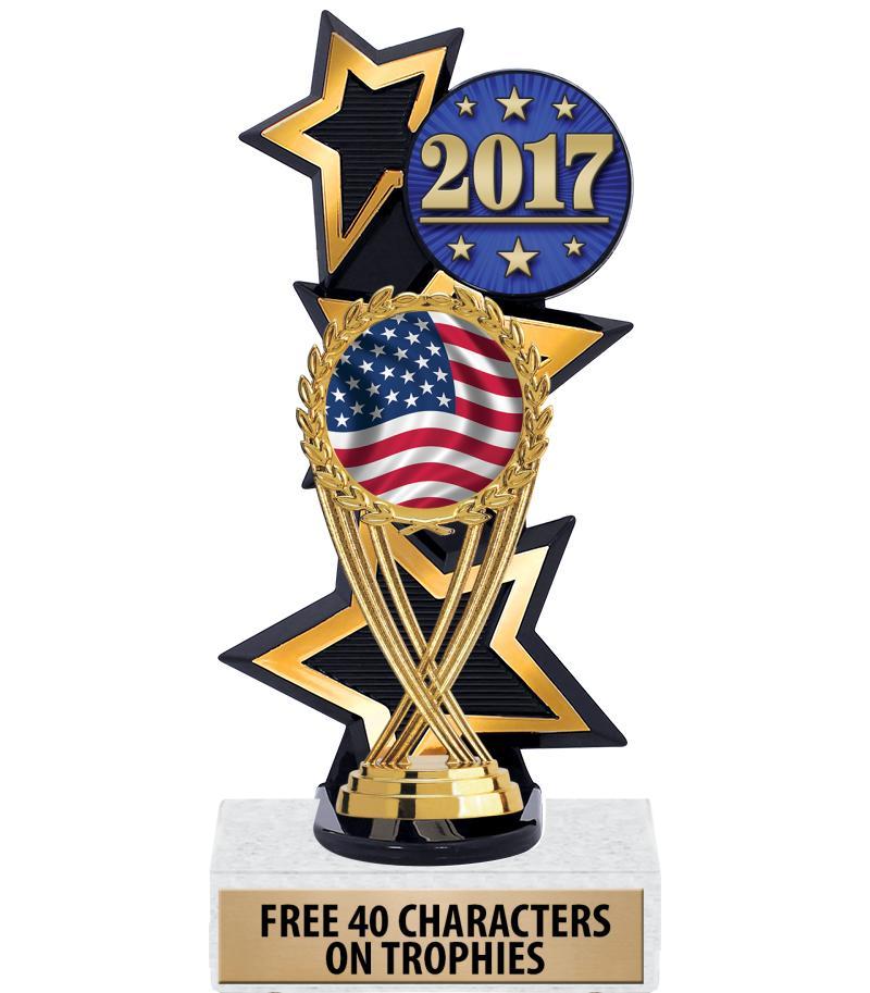 American Flag Trophies Crown Awards