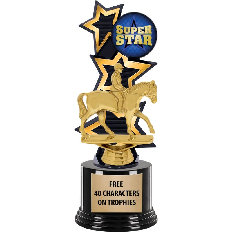 GOLD/BLACK THREE STAR BACKDROP