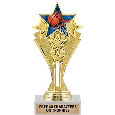 "6 1/2"" Star Center Stage Trophy"