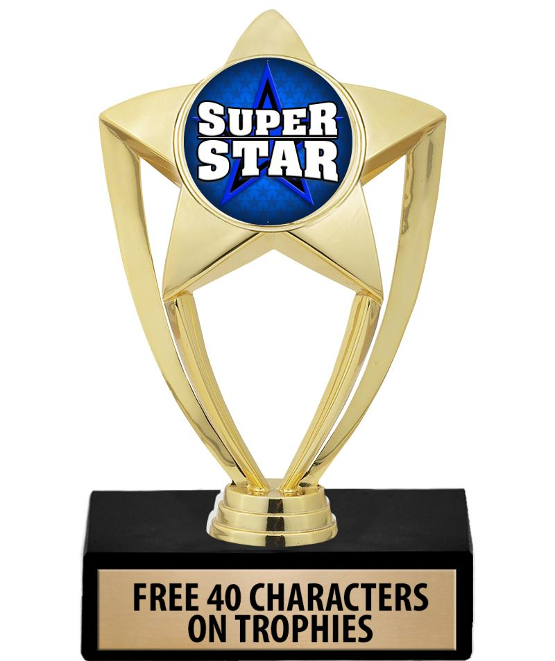 "6"" Gold Star Insert Trophy"