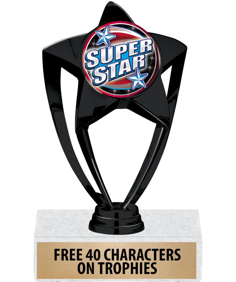"6"" Black Star Insert Trophy"
