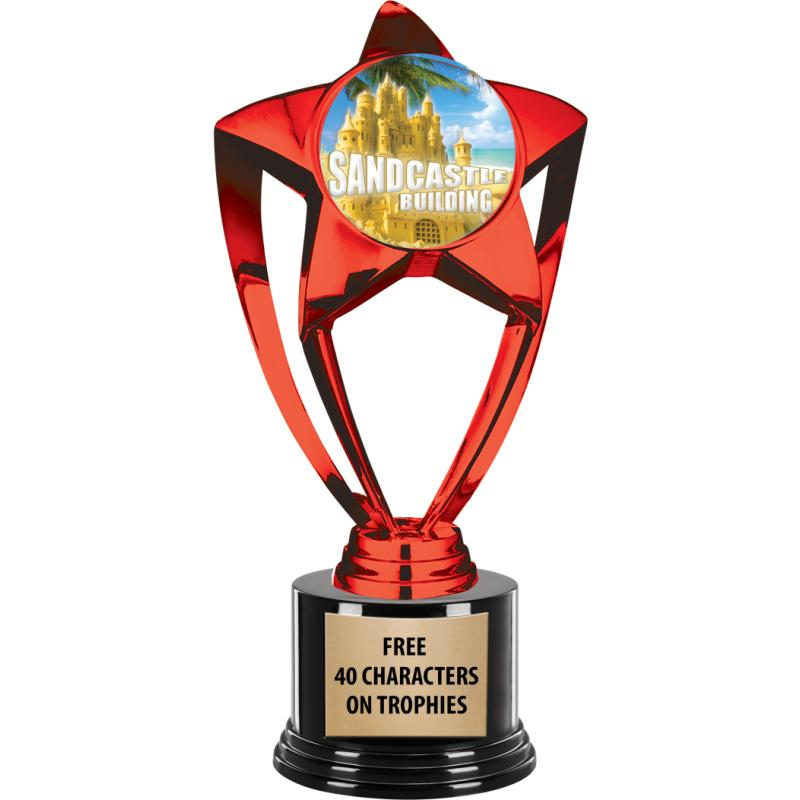 RED SHINY STAR INS TROPHY