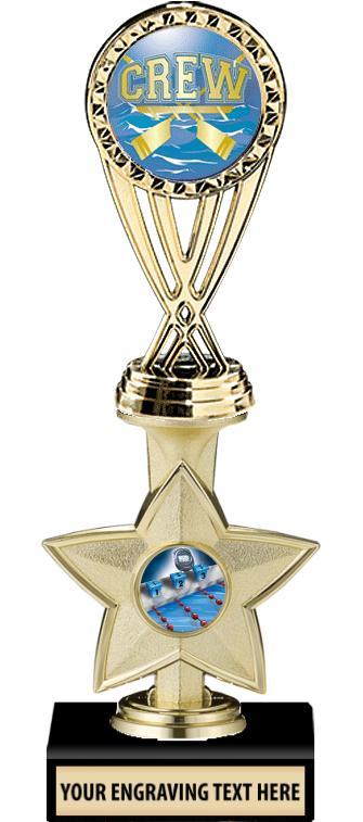"""9"""" Idol Star 1"""" Insert Trophy"""