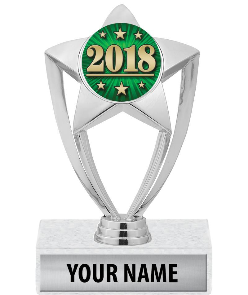 "6"" Silver Star Insert Trophy"