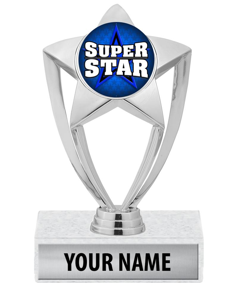 """6"""" Gold and Silver Star Insert Trophies"""