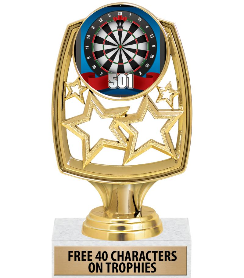 """6"""" STAR WHIRL INSERT TROPHY GD"""