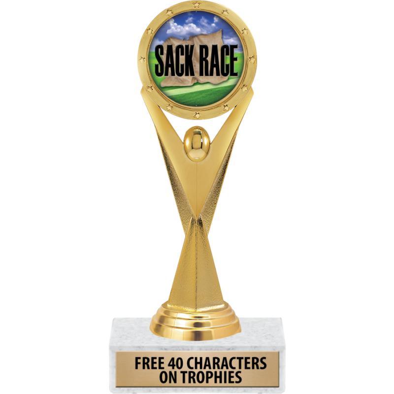 Sack Race Trophies Sack Race Medals Sack Race Plaques